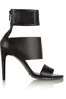 Tibi Evie perforated matte-leather sandals