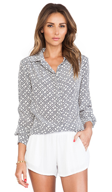 Trina Turk Mini T's Crystal Blouse in Ivory