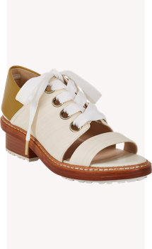 3.1 Phillip Lim Floreana Open-Toe Lace-Up Booties