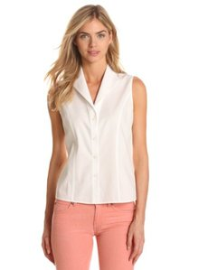 Jones New York Women's Sleeveless No-Iron Easy Care Shirt