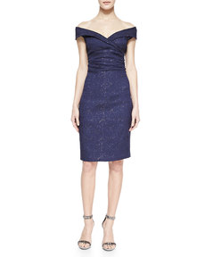 Kay Unger New York Cap-Sleeve Sheath Dress