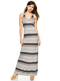 Stripe twist-back maxi dress
