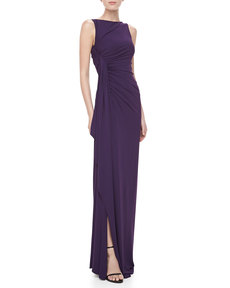 Michael Kors Matte Jersey Draped Gown