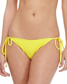 Shoshanna Textured Tie-Side Swim Bottom