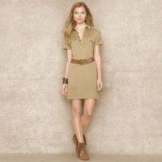 Silk-Blend Jersey Shirtdress
