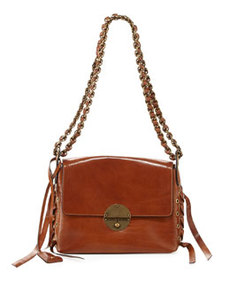 The Laces Nolita Leather Shoulder Bag, Brown   The Laces Nolita Leather Shoulder Bag, Brown