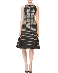 Seamed Striped Halter Dress   Seamed Striped Halter Dress