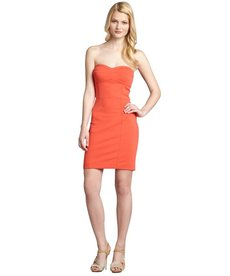 Rebecca Taylor paprika jersey knit bustier 'Take Me Out' strapless dress