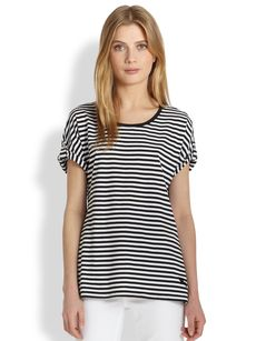 Burberry Brit Striped Cotton Tee