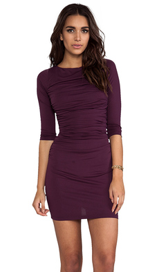 "Susana Monaco Light Supplex Genevieve 20"" Dress in Wine"