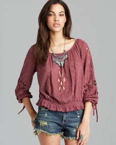 Free People Blouse - FPX Jewel