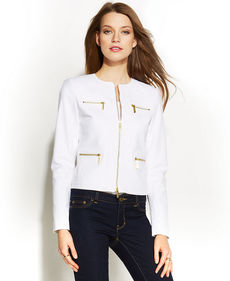 MICHAEL Michael Kors Petite Zippered Jacket