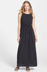 kensie Soft Crepe Drawstring Maxi Dress