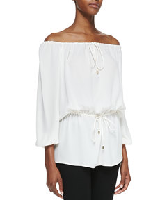 Michael Kors Off-The-Shoulder Blouse