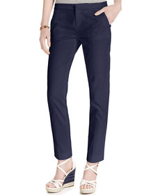Tommy Hilfiger Textured Slim Ankle Pants