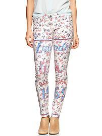 1969 floral statement always skinny skimmer jeans