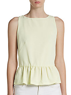 French Connection Split-Back Peplum Tank
