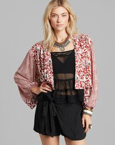 Free People Cardigan - Kimono Balloon Sleeve
