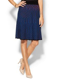 M Missoni Micro Vertical Fan-Stitch Skirt