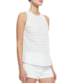Ellice Sleeveless Eyelet Top   Ellice Sleeveless Eyelet Top
