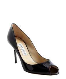 Jimmy Choo black patent leather 'Evelyn' pumps