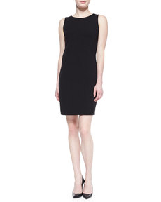 Three Dots Sleeveless Round-Neck Sheath Dress
