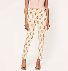 Petite Paisley Print Ankle Pants in Julie Fit
