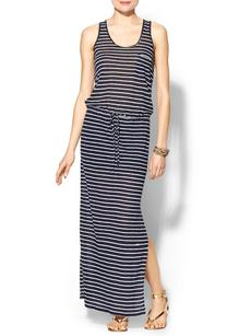 C&C California Oceanic Linen Racer Back Maxi Dress