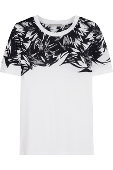 Jason Wu Printed cotton and modal-blend T-shirt