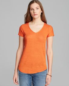 Eileen Fisher V Neck Short Sleeve Sweater