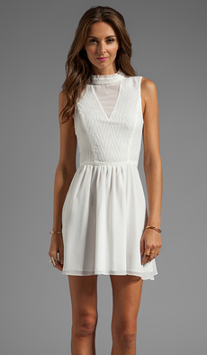 DV by Dolce Vita Romana Zigzag Dobby Dress in White