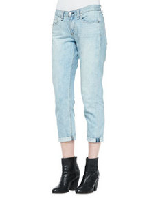 Oldmans Light-Wash Cropped Boyfriend Jeans   Oldmans Light-Wash Cropped Boyfriend Jeans
