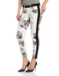 Hudson Jeans Women's Lee Loo Skinny Jean in Black/White Floral