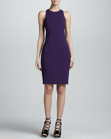 Jason Wu Fitted Racerback Sheath Dress, Violet