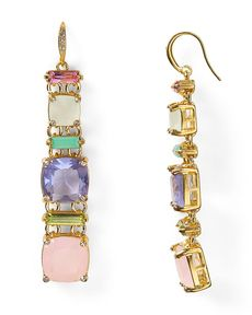 ABS by Allen Schwartz Charmed Color Linear Earrings