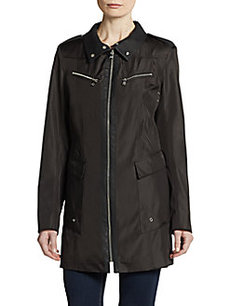 MARC NEW YORK by ANDREW MARC Roni Zip-Front Rain Coat
