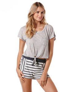 marled jersey crop top