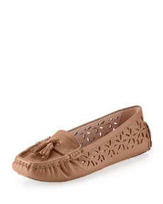 Taryn Rose Carissa Moc-Toe Flat, Wheat