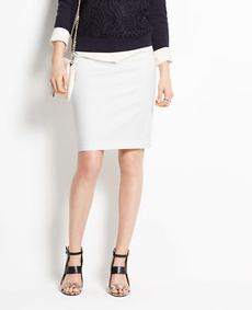Petite Cotton Sateen Pencil Skirt