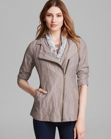 Eileen Fisher Hooded Two-Way Zip Jacket