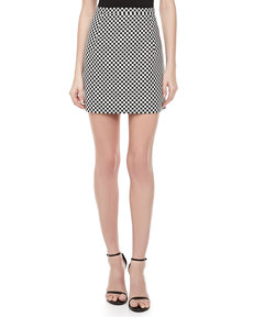 Michael Kors Optic Check Miniskirt
