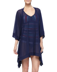 Tommy Bahama Tulle High Low Tunic Cover Up