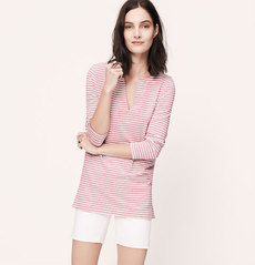 Petite Striped Linen Cotton Tunic