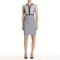 Sheath Dress with Jacquard Weave