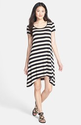 kensie Stripe Stretch Knit Shift Dress