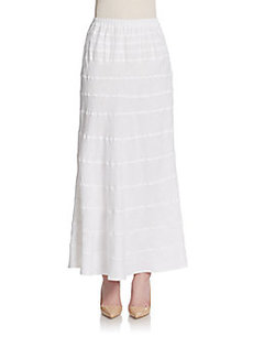 Saks Fifth Avenue BLUE Tiered Linen Maxi Skirt