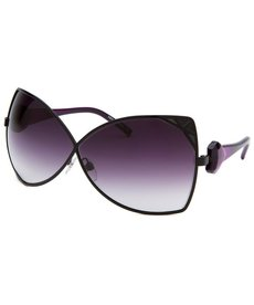 Diesel Women's Butterfly Black Sunglasses