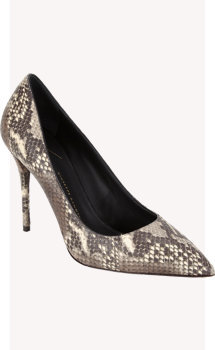 Giuseppe Zanotti Snake-stamped Point-toe Pump