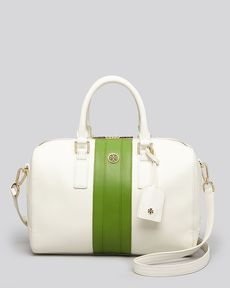 Tory Burch Satchel - Robinson Striped Middy