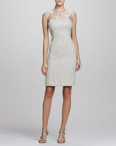 Kay Unger New York Tweed Sheath Dress